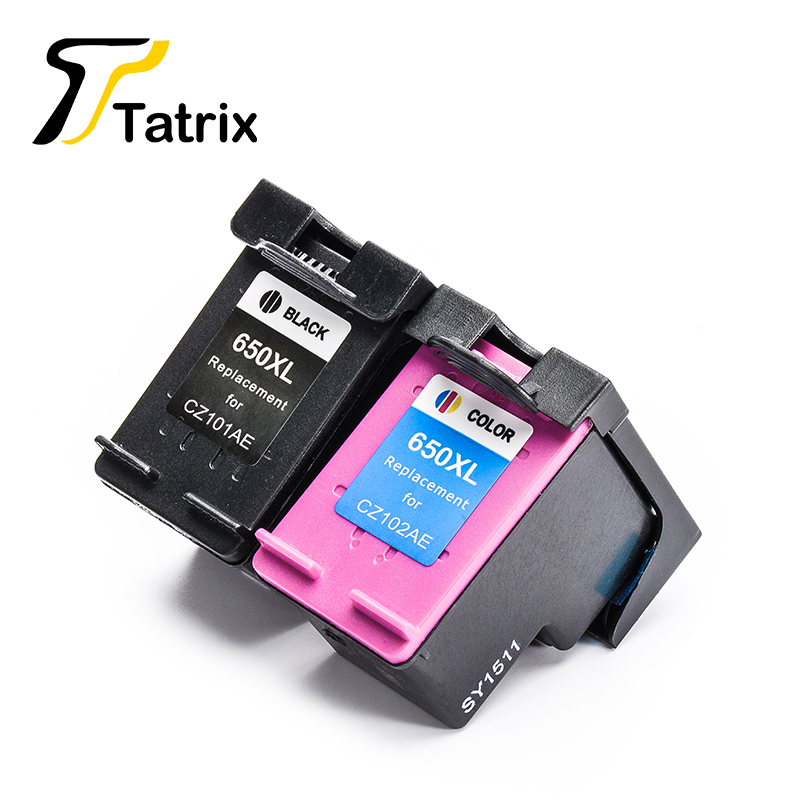 Tatrix 2PK For HP650 HP650XL Ink Cartidge For <font><b>HP</b></font> Deskjet Ink Advantage 1015 1515 2515 2545 2645 <font><b>3515</b></font> 4645 image