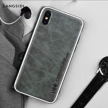 Genuine Leather High-grade phone case for iphone 8 plus 6 7 XSmax XR All inclusive fashion protective x
