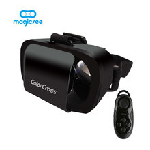 "2017 Google Cartón ColorCross III 3D Gafas de Realidad Virtual VR Imán para 4.7 ~ 6 ""Teléfonos Inteligentes + Remoto Gamepad"