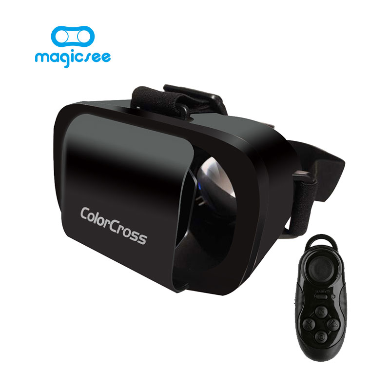 2017 Google Carton ColorCross III 3D Lunettes VR Réalité Virtuelle Aimant pour 4.7 ~ 6 Smartphones + À Distance Gamepad