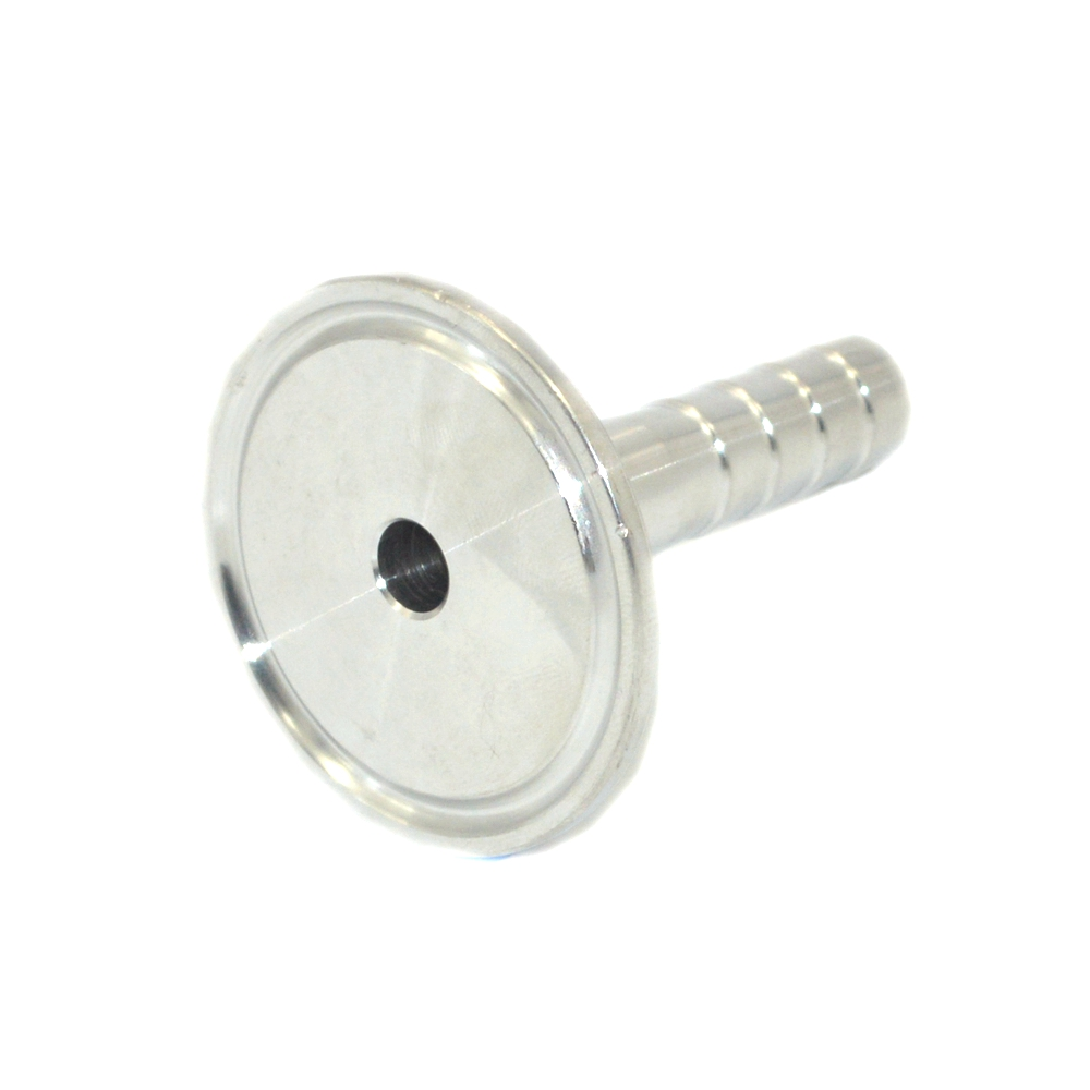10mm OD Metal Hose Quick Connector Sanitary Barb Pipe Fitting Tri Clamp Type 50.5mm Ferrule Stainless Steel SS 304 SSH10-50.5 1pt male thread x 22mm 25mm 25 4mm 1 od double ferrule tube air compression pipe fitting connector 304 stainless steel bspt
