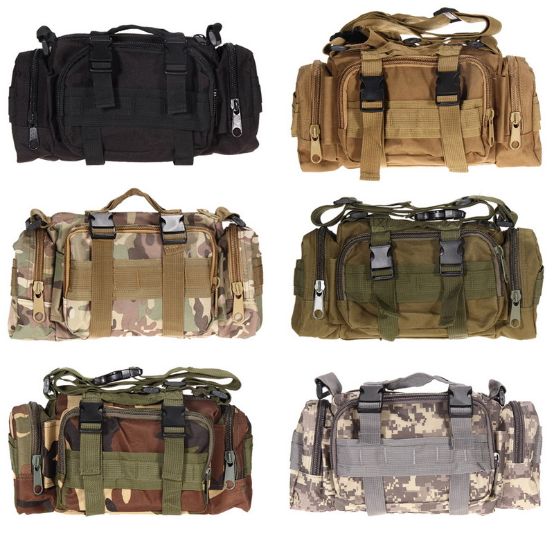 3L Tactical Bag Sport Bags 600D Waterproof Oxford Military Waist Pack Molle Outdoor Pouch Bag Durable
