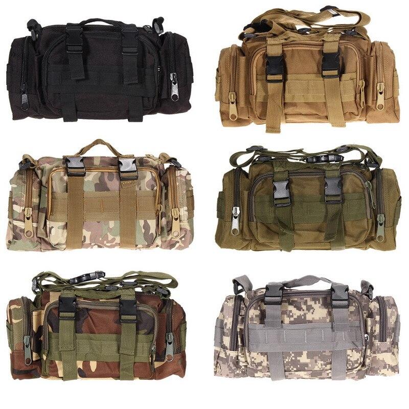 3L táctico bolsas de deporte 600D impermeable Oxford militar paquete de la cintura Molle al aire libre bolsa de bolsa resistente mochila forCamping senderismo