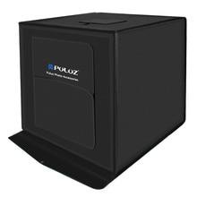 PULUZ 40*40 cm caixa de luz Suave caixa de 16 polegadas mini estúdio caixa de luz softbox 30 WLight Foto Iluminação de Estúdio Kit Caixa de tiro Tenda