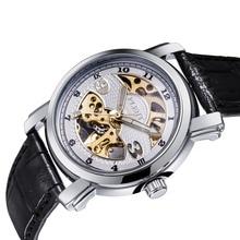 Skeleton Watch Pria Menonton,