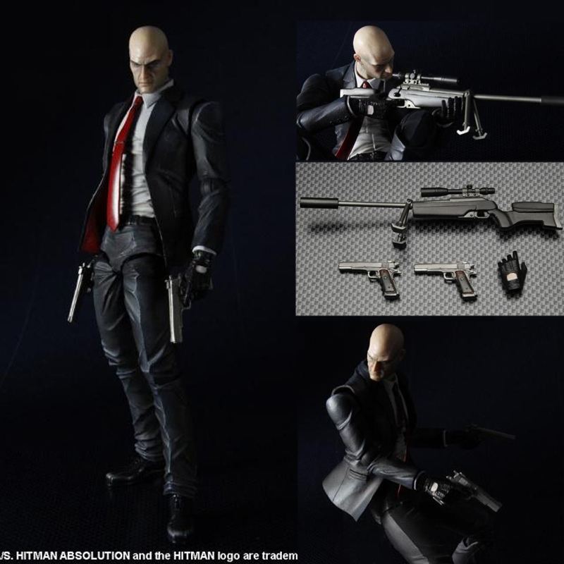 Play Arts Hitman Killer Agent 47 Action Figures Collection Model Toy 23cm