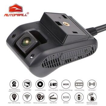 3G GPS трекер Автомобильная смарт камера видеорегистратор JC200 EdgeCam двойной объектив Full HD 1080P черная коробка SOS WiFi ночное видение отключение мас