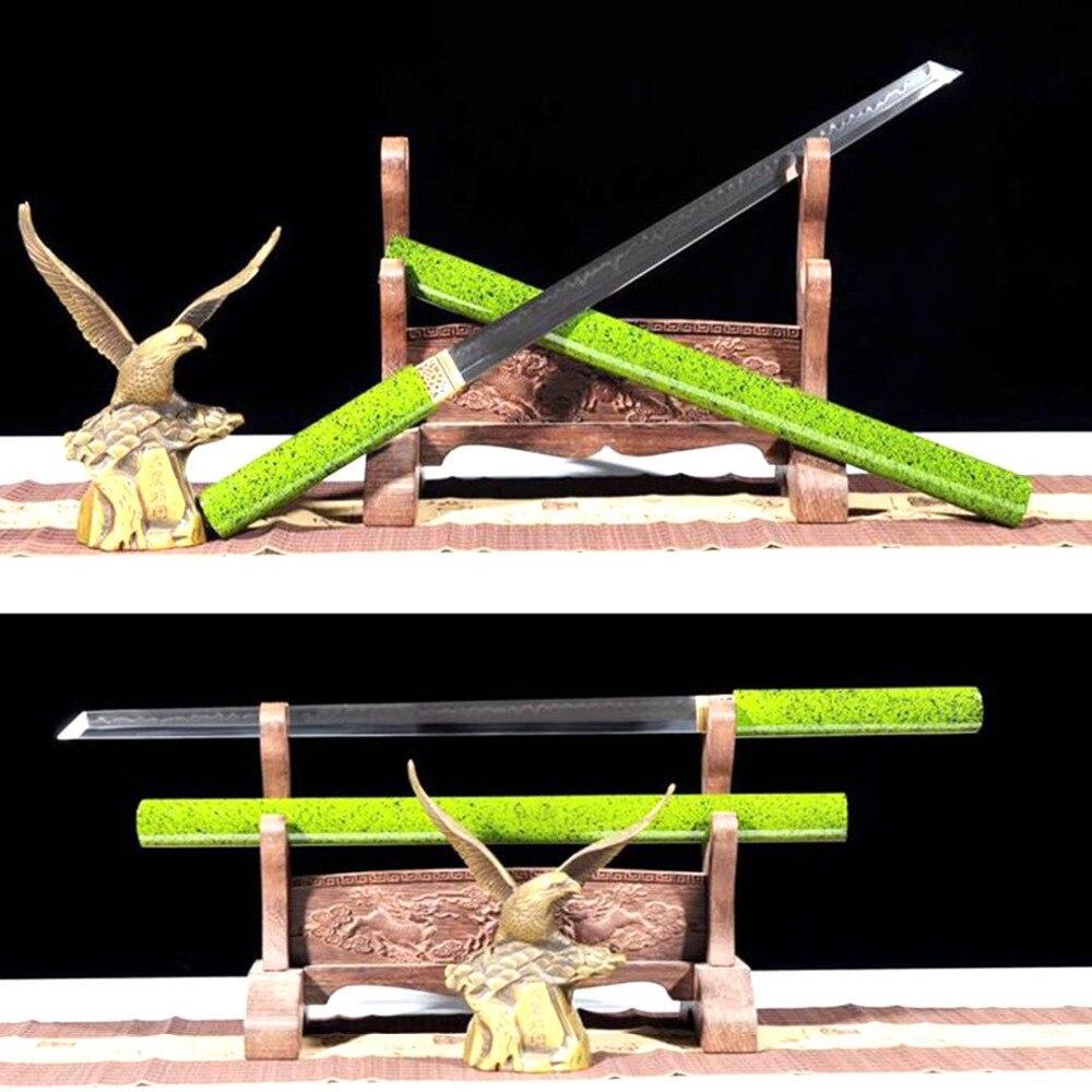 76 Cm * Ninja Lama Diritta T10 Acciaio Inox Razor Sharp Giapponese Wakizashi Spada Samurai Katana Argilla Temperato Lama Completa Di Linguetta Aspetto Estetico