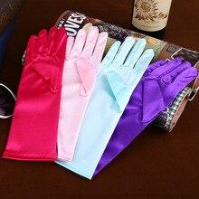 Новая мода стрейч, атласный, длинный перчатки для женщин/вечерние оперные перчатки для женщин/брендовая модная одежда аксессуары для женщин