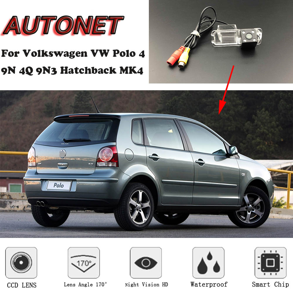 AUTONET Backup Rear View Camera For Volkswagen VW Polo 4 9N 4Q 9N3 Hatchback MK4 2002~2009  /license Plate Camera/parking Camera