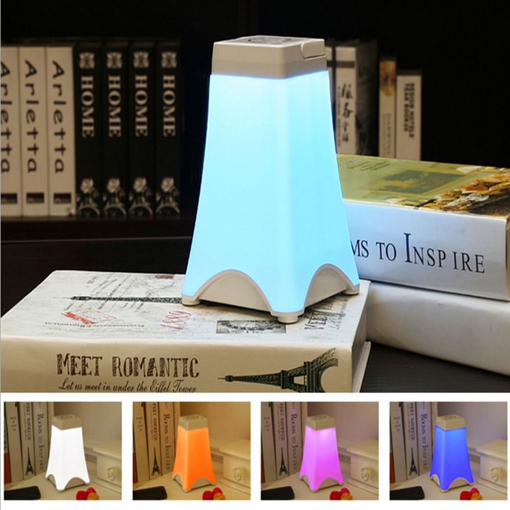 Led energy saving Creative Eiffel <font><b>Tower</b></font> night light portable USB Charge Touch the sensor light