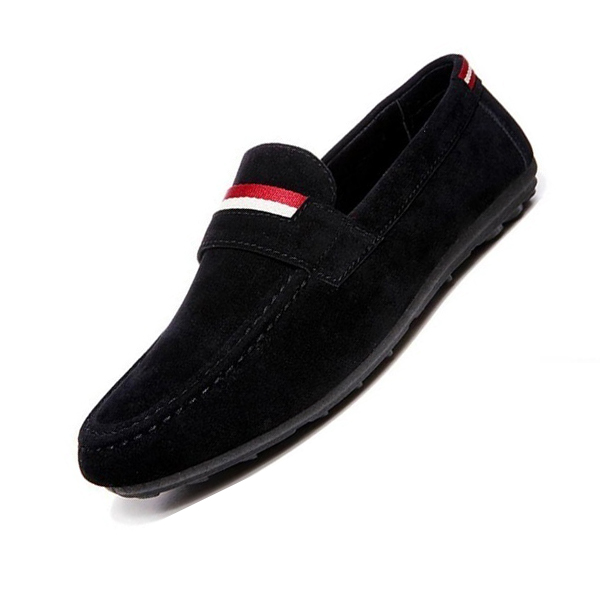 Spring and Autumn shoes for men Korean suede leather casual males flats soft breathable loafers Black 40 spring and autumn business casual leather moccasins shoes soft leather soft outsole men s light free shipping