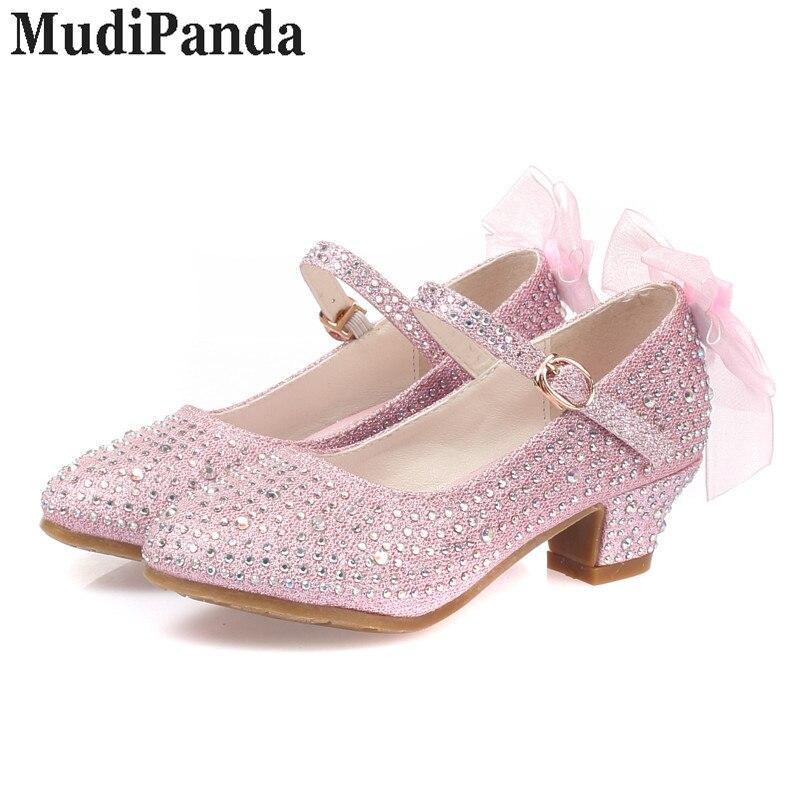 MudiPanda sandały dla dziewczynek dziecięce wysokie obcasy - Obuwie dziecięce - Zdjęcie 2