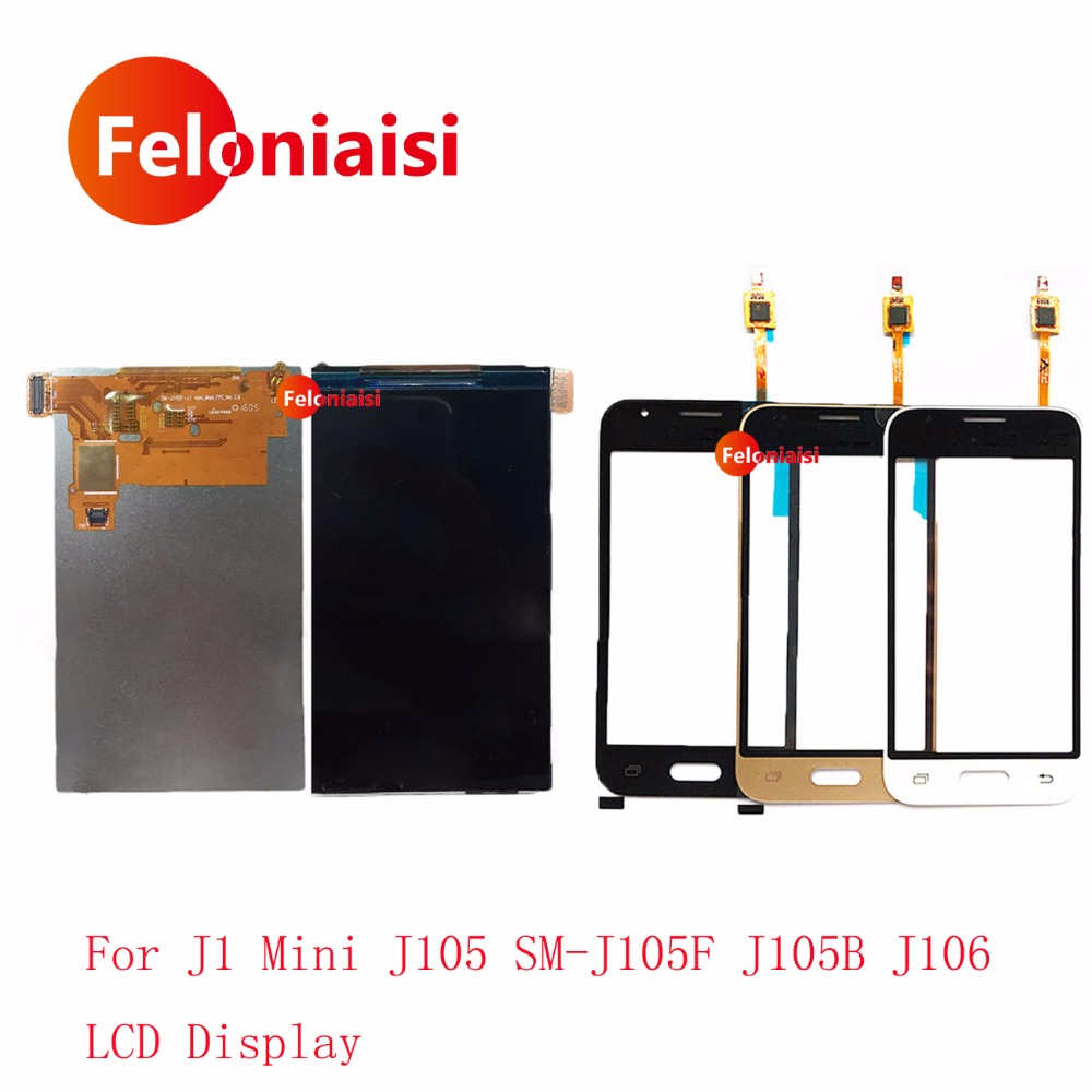 High Quality 4.0 For Samsung Galaxy J1 Mini J105 SM-J105h J105B J106 Lcd Display With Touch Screen Digitizer Sensor Panel+Track