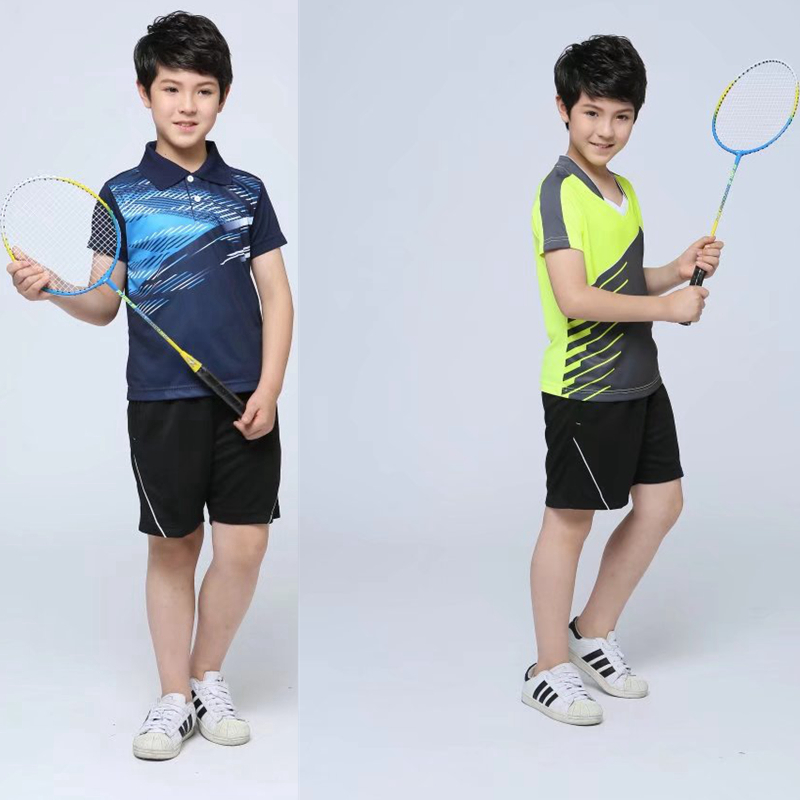 Boys/Girls table tennis ping-pong game training child T Shirts Sets Sport Quick Dry brea ...