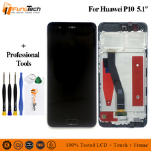 LCD for Huawei P10 LCD Display Touch Screen Digitizer Assembly With Frame Replacement VTR-L09 VTR-L10 VTR-L29 for Huawei P10 LCD все цены