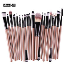 MAANGE 20Pcs Makeup Brushes Set Pro Powder Blush Foundation Eyebrow Eyeshadow Eyeliner contouring Concealer Brush tools kit