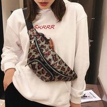 Tonny Kizz leopard fanny pack women waist bag multifunctional shoulder messenger bags belt with sequins high quality heuptas