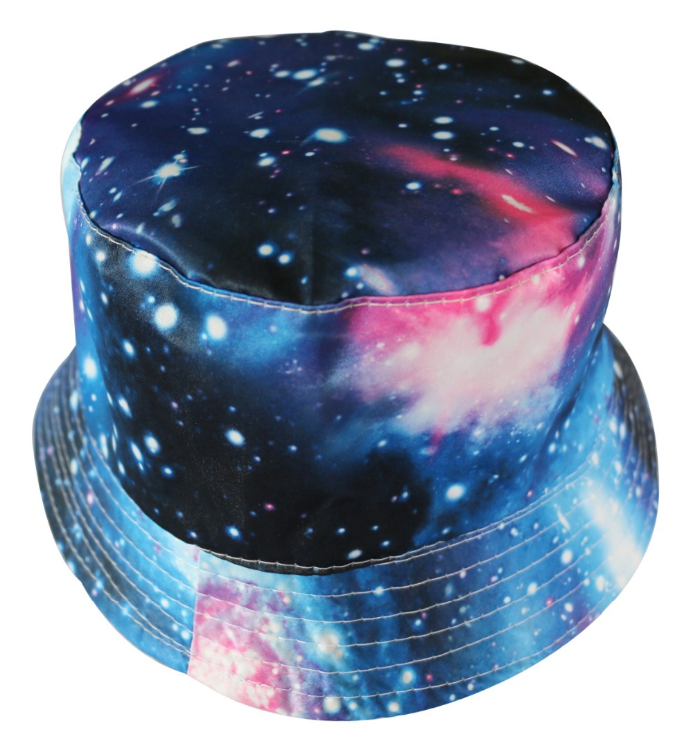 bf7f4761816 Free Shipping 2017 Unisex Casual Summer Galaxy Bucket Hats Boonie Hunting  Fishing Caps For Mens