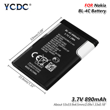 цена на Lithium Battery BL-4C BL 4C For Nokia 6100 6300 6260 6125 6136S 6170 6301 7705 7200 7270 8208 BL4C Lithium Replacement
