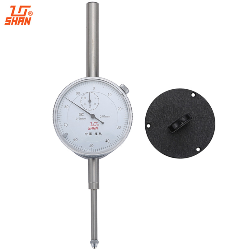 все цены на SHAN Large Measuring Range Dial Indicator 0-30mm/0.01 With Lug Back Dial Gauge Micrometer Measuring tools онлайн