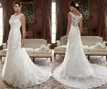 Stunning New Model Hot Sale Lace Wedding Dress 100% Real Photos NS588