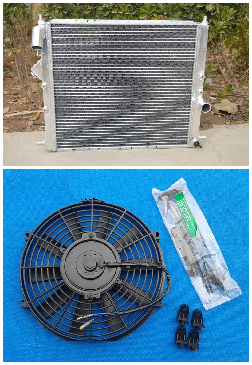 all aluminum universal radiator fan for renault clio 16s. Black Bedroom Furniture Sets. Home Design Ideas