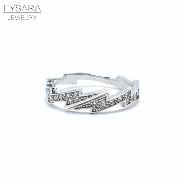 Aliexpresscom Buy FYSARA 925 Sterling Silver Ring Sparkling