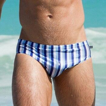 c359db0786eb Pantalones de baño largos para hombre trajes de baño sexis medias unisex  traje de baño de cintura ...
