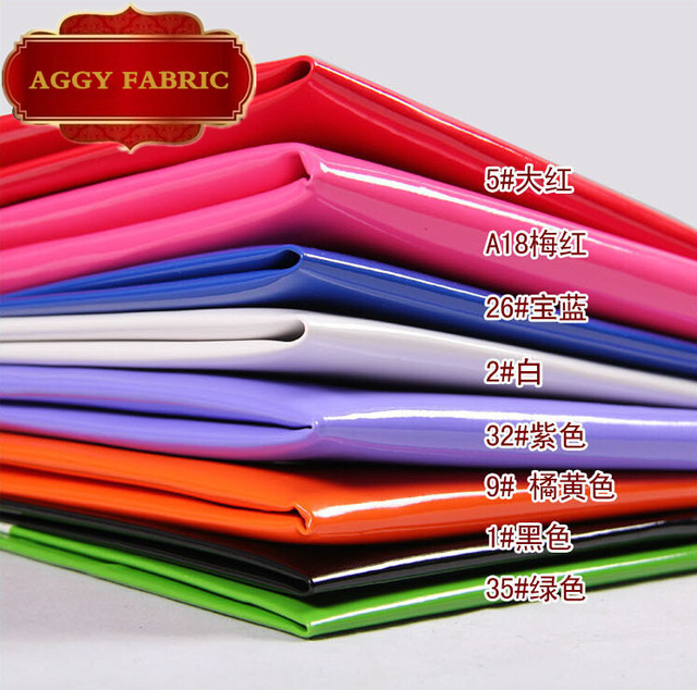 Falso PU tecido de couro sintético espelho brilho de couro para tissu couro Artificial para material de costura