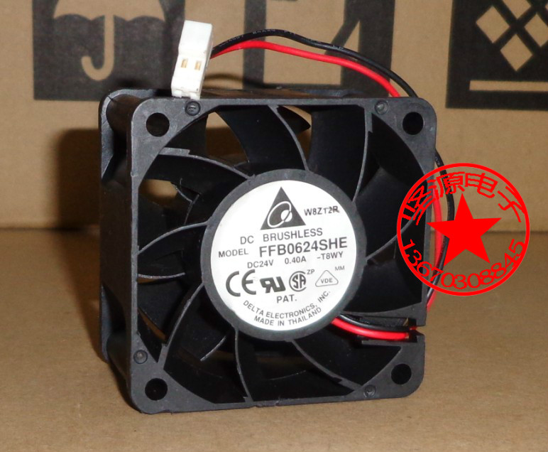 Delta FFB0624SHE T8WY Server Square Cooling Fan DC 24V 0.040A 2-wire delta 12038 120mm 12cm ffb1212vhe dc 12v 1 5a 24w 4wire violence server industrial case cooling fans