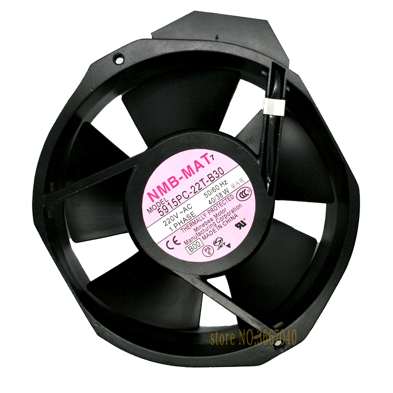 Original NMB cooling fan 172x150x38mm 5915PC-22T-B30 17238 17CM AC 220V 40W bearing blower cooler fan heat sink