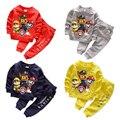 Ano novo conjunto de roupas Meninos terno esportes dos miúdos crianças agasalho meninos definir trajes do Natal Do cão do filhote de cachorro dos desenhos animados para meninas