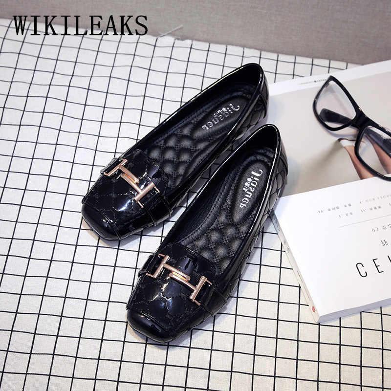 2019 fashion designer schoenen slip op schoenen voor vrouwen dames rode schoenen vrouw Vierkante Teen flats scarpe donna klimplanten loafers vrouwen