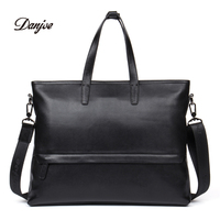 DANJUE Genuine Leather Men Handbag Business Natural Leather Briefcases High Quality Brand Fashion Shoulder Bag