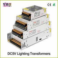 Alta calidad DC5V 12 V 24 V 36 V tira de led de potencia al adaptador AC100-240V 1A 2A 3A 4A 5A 6A 8A 10A 15A 20A 30A 40A 50A 60 APower de