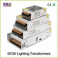 Alta calidad DC5V 12V 24V 36V tira de led de potencia al adaptador AC100-240V 1A 2A 3A 4A 5A 6A 8A 10A 15A 20A 30A 40A 50A 60APower de