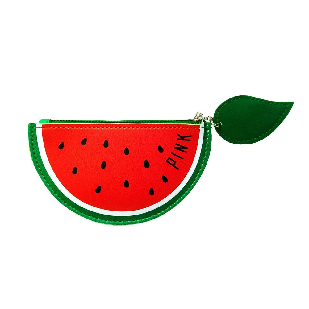 Creative Fruit Cactus Coin Purse Faux Leather Mini Wallet with Keyring Bags for Women 2018 cute cactus keyring for women