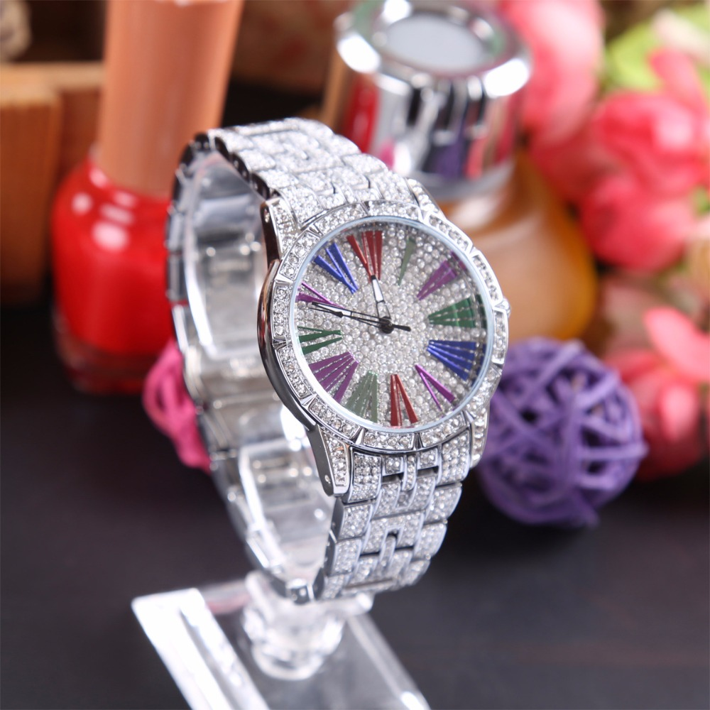 Women Watches Women Fashion Watch 30 M Waterproof Ladies Watch Luxury Brand Diamond Quartz Silver Wrist Watch Gifts For Women