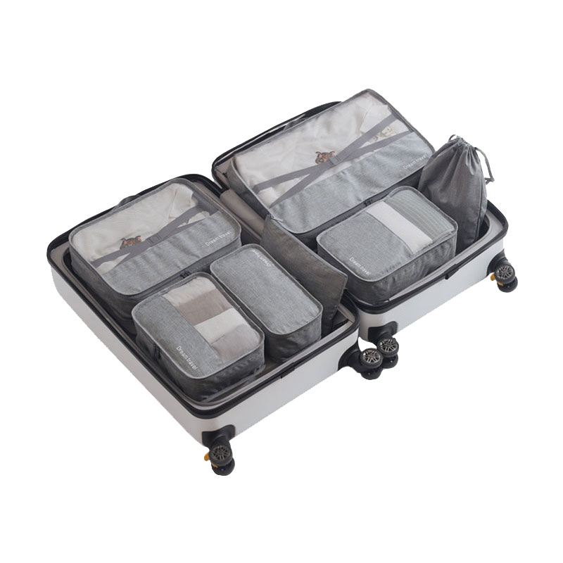 7pcs/lot Set Highend Travel Packing Cubes Waterproof Nylon Classified Luggage Clothes Bags Business Travel Pouches