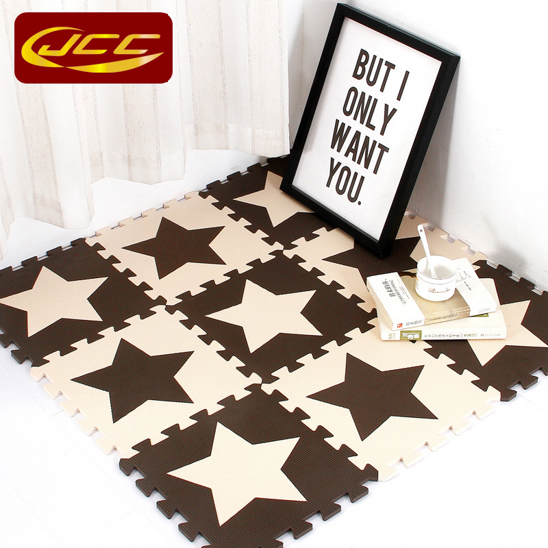 JCC Baby EVA Skumpussel Spela Mat / 10pc barn Star Mattor Leksaker Mattor för barns Interlocking Exercise Floor Tiles