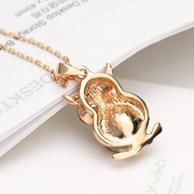 Owl Shaped Crystal Pendant Necklace For Women