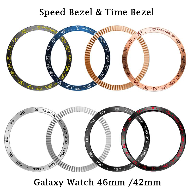 Speed & Time Bezel Ring Adhesive Cover Anti Scratch For Samsung Galaxy Watch 42mm 46mm Smart Watch Cover For Gear S3 S2 Classic