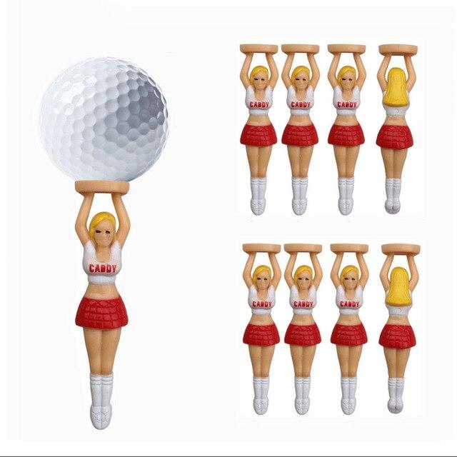 """10 יח'\חבילה גודל 75 מ""""מ/2.95 """"סקסי מעודדות ילדה כדור גולף טיז פלסטיק גולף עיצוב ציפורניים"""