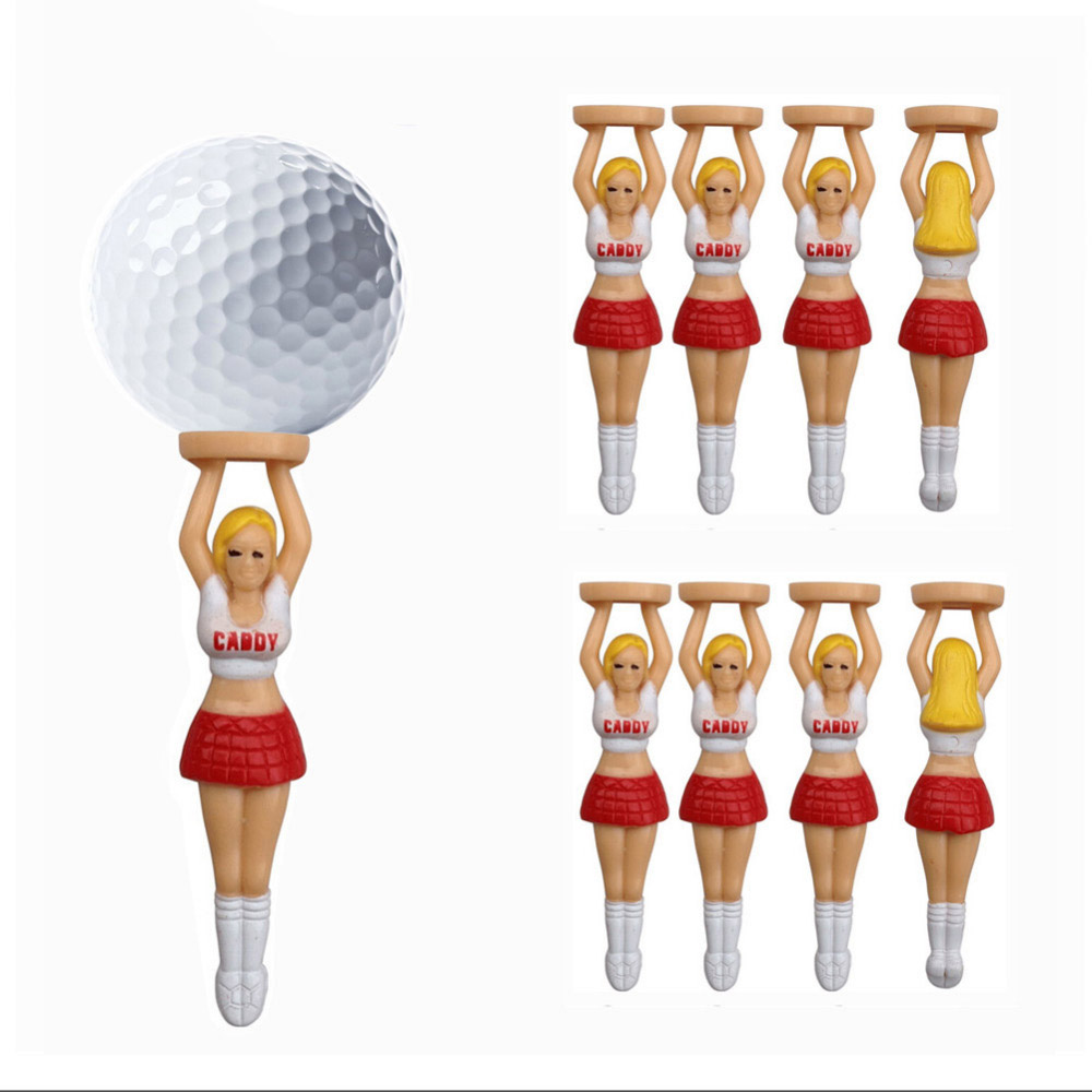 10pcs/lot size 75mm/ 2.95Sexy Girl cheerleaders design Golf Tees Plastic Golf Ball Nails