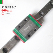 HIWIN MGN12C mini MGN12 slider with 600mm MGNR12 linear guide rail for 3d printer High efficiency CNC parts 12mm MGN