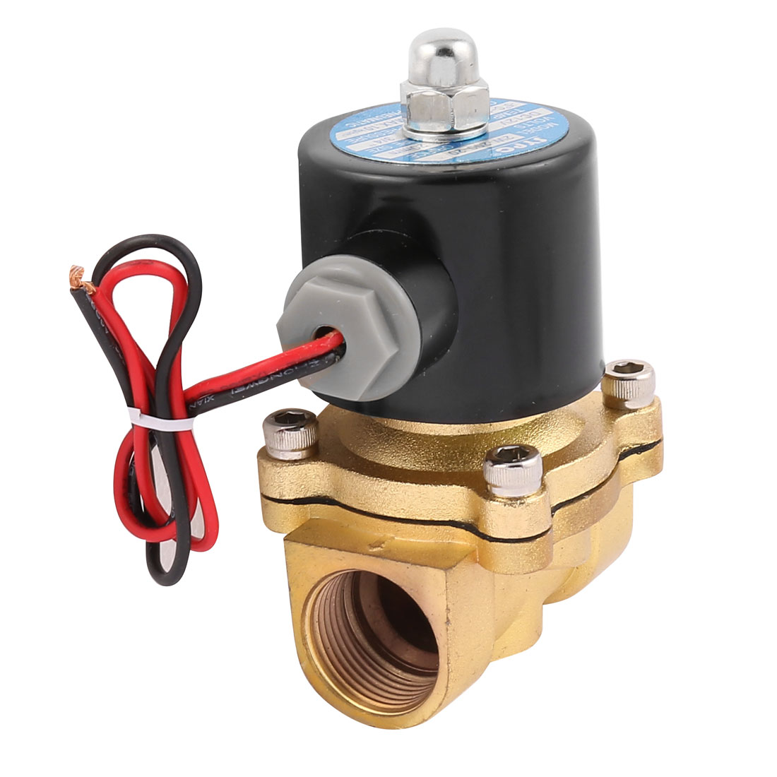 Air, Water, Oil Pneumatic Solenoid Valve 2W200-20 3/4 3 8 electric solenoid valve water air n c all brass valve body 2w040 10 dc12v ac110v