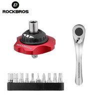 ROCKBROS Ratchet Wrench Bicycle Repair Tools Multifunction Tools MTB Road Carbon Bike Torque Wrench Bidirectional 12