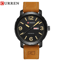 Curren Watches 2017 Mens Watches Top Brand Luxury Relogio Masculino Curren Watch Quartz Leather Band Wristwatch