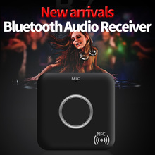 New Arrival 3.5mm Bluetooth Receiver Bluetooth Audio Transmitter Receiver CSR 4.1 NFC USB APTX Bluetooth Adapter For Car Stereo